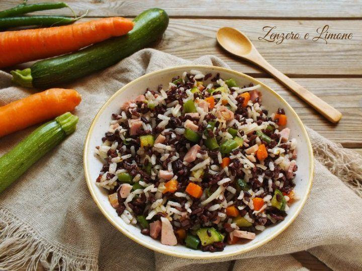 insalata di riso nero e bianco