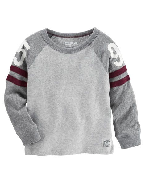 Kid Boy Varsity Raglan Tee from OshKosh B'gosh. Shop clothing & accessories from a trusted name in kids, toddlers, and baby clothes.