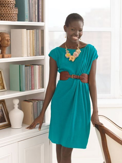 This knit dress is perfect for your work or nighttime wardrobe.