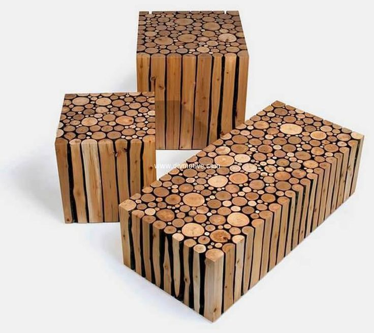 Creative Rustic Wood Logs Furniture Ideas