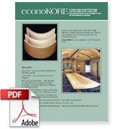 Kerfkore Company | Econokore - A better alternative to bendable plywood.