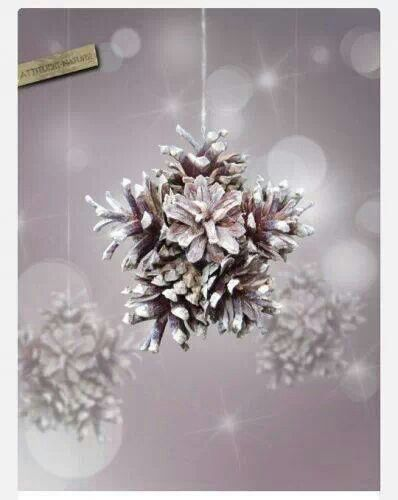 Pine cone star bauble.