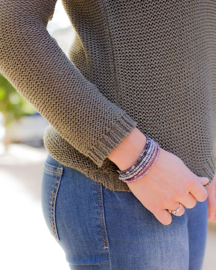 Layering sapphire bracelets