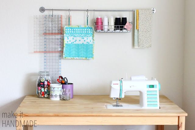 Make It Handmade: Easy DIY IKEA Sewing Table Hack.  I have this table.  I use it…