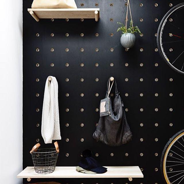 Loving this Black Plywood Peg Board ✔️
