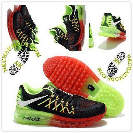 Tendance | Nike Chaussure Sport Air Max 2014 Homme Blanc/Rouge/Vert