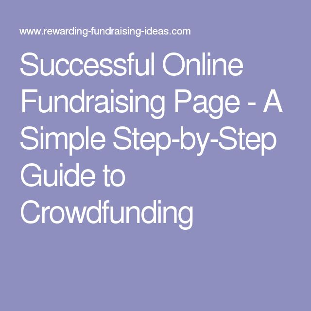Successful Online Fundraising Page - A Simple Step-by-Step Guide to Crowdfunding