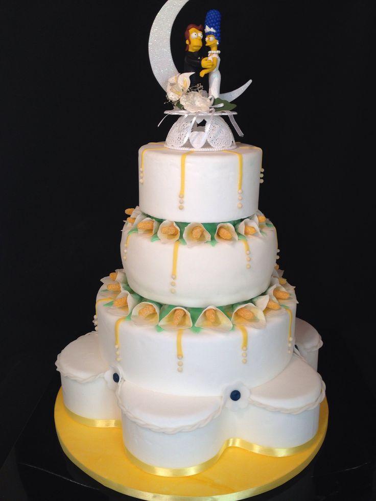 Simpson wedding cake