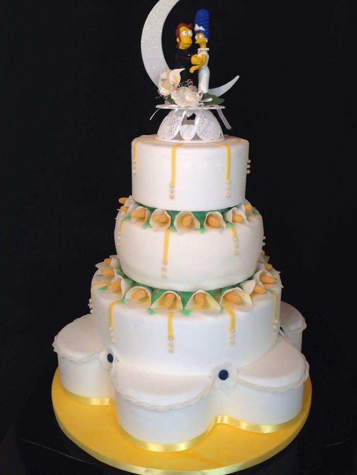 Simpson wedding cake