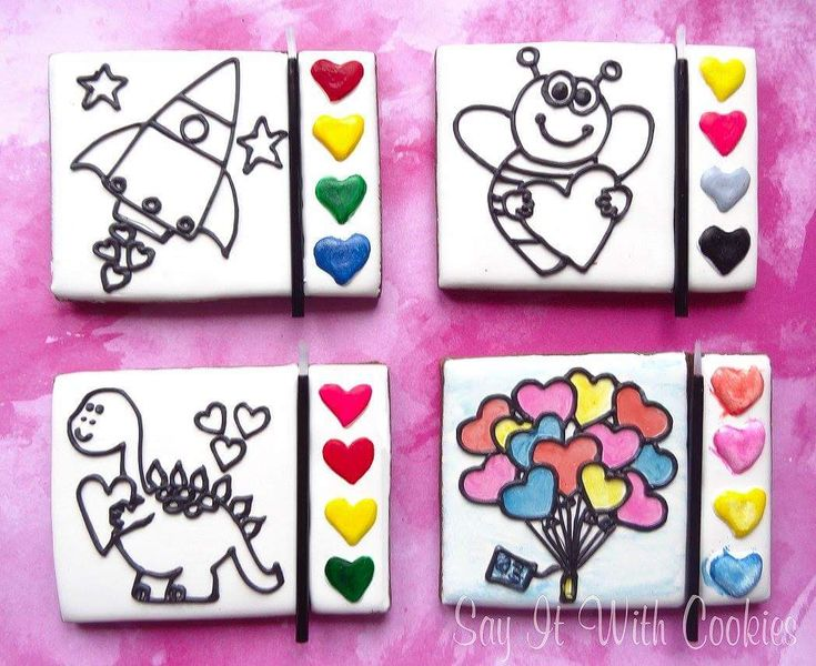 Cute Paint Your Own Cookies (PYO Cookies)
