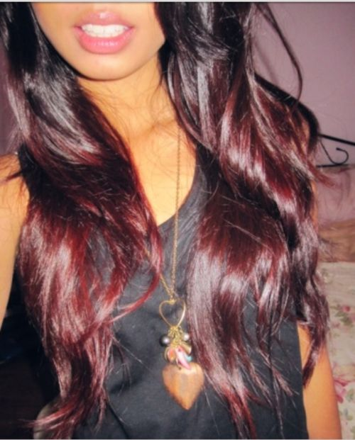 Brown to red ombre hair... I asked for something like this... Went caramel instead. Hmmm new color time? I will do this once my hair starts to grow because of biotin!