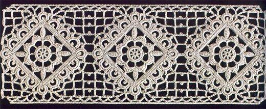 Вязаное кружево крючком. Схема
