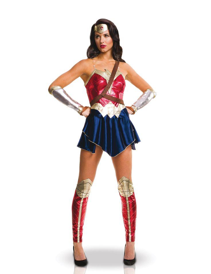 Wonder Woman™ Kostüm für Damen inklusive Zubehör