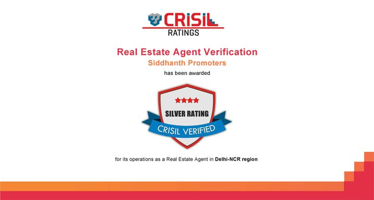 Siddhanth Promoters has been awarded SILVER RATING from CRISIL Limited for its operations as a Real Estate Agent in Delhi-NCR region.