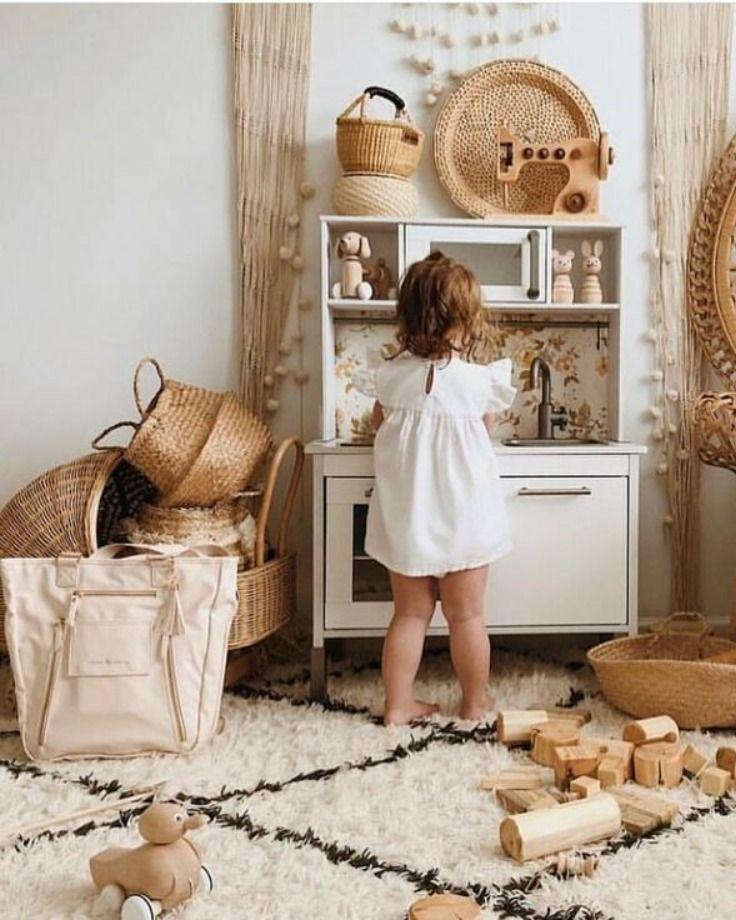 Wicker Basket Storage Nursery Decor Idea Kid Room Decor Toddler Rooms Kids Interior