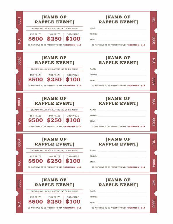 Raffle tickets - Templates - Office.com