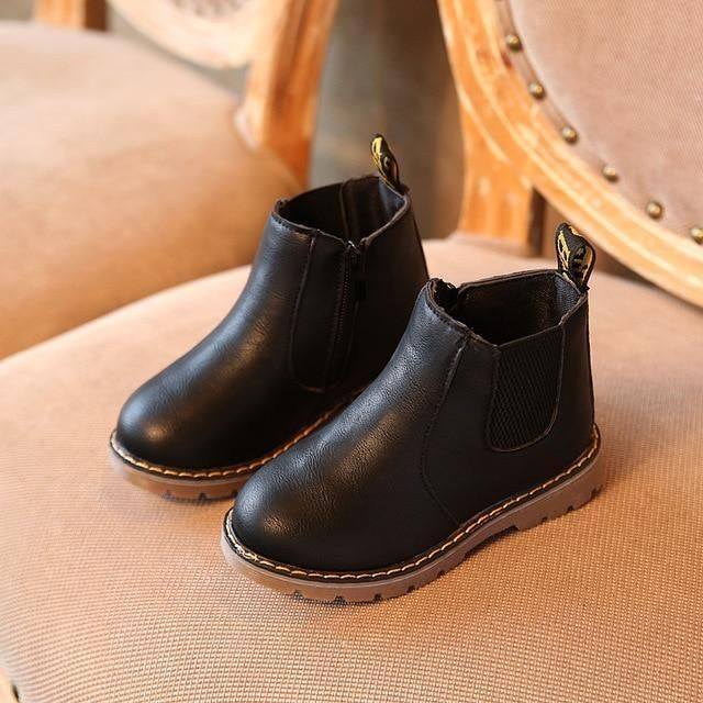 ankle boots, Kids leather shoes