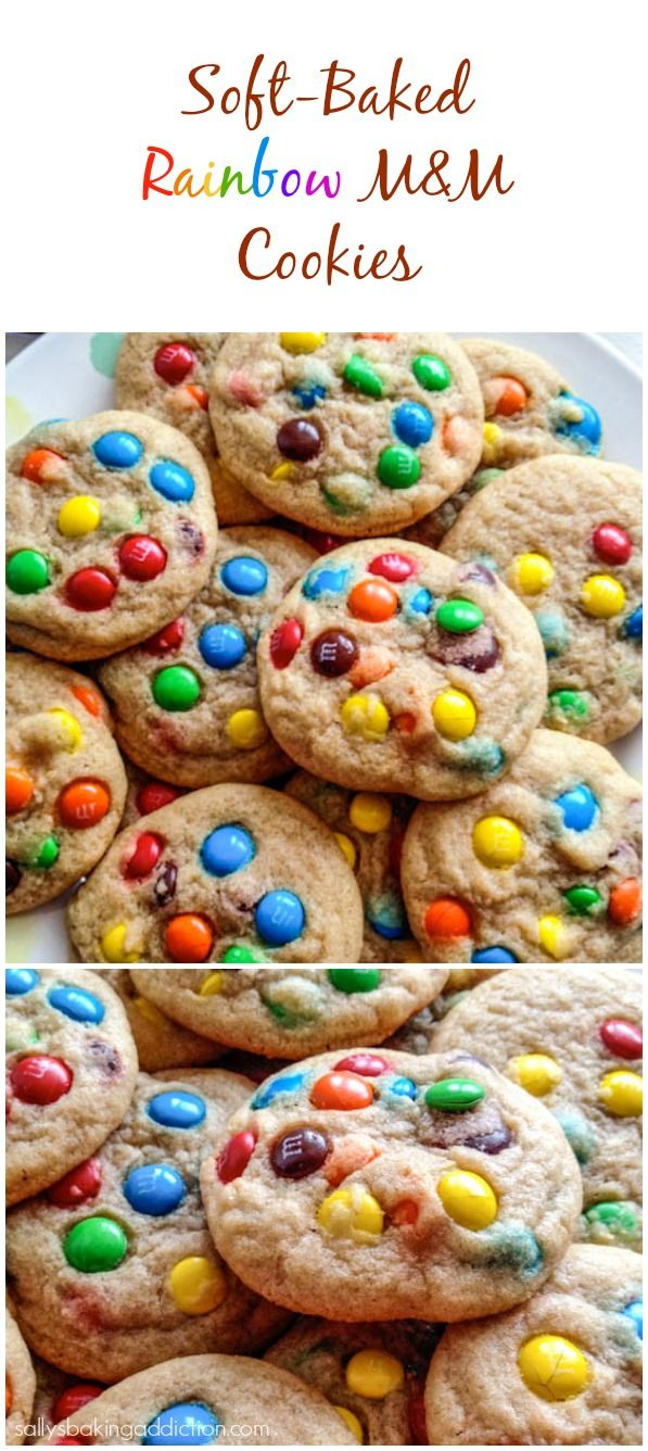Soft and chewy cookies filled with colorful M