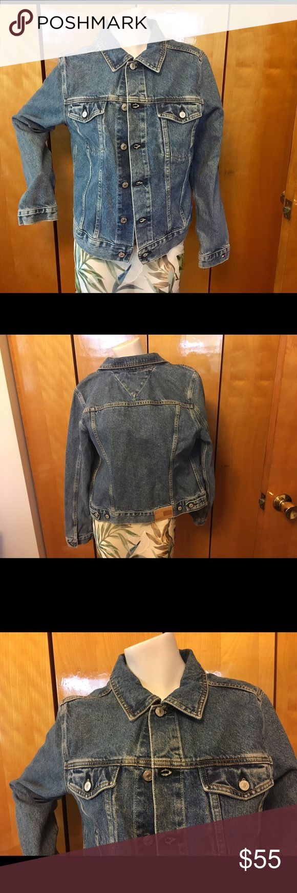 Tommy Hilfiger Denim Jacket. A Closet Essential. An Androgynous Piece. A throw back Denim jacket.  Classic Hilfiger. Size Large.  EUC Tommy Hilfiger Jackets & Coats Jean Jackets