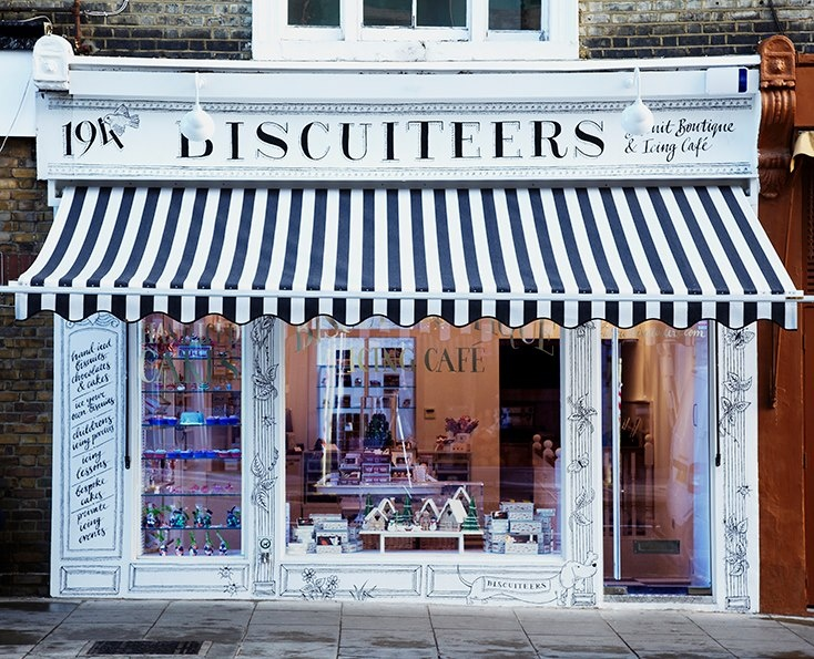 Biscuiteers Baking Company | London  Gorgeous place in London LUV STRIPY
