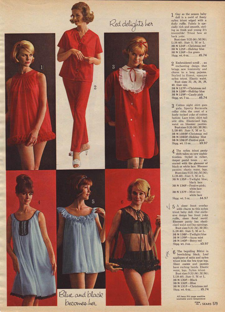 Sears_1964_Page0579 | retro pajamas and babydolls ...