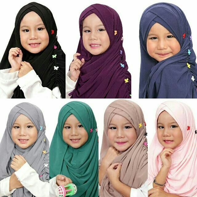 ♡PO Kidz Slip In Ruffle Double Cross♡  Material Korean Jersey Avail in 2 sizes : S : Face circumference 40 cm, fit 4-7 yrs M: Face circumference 43 cm, fit to 8-10 yrs  Pls WA +65-83362104 to order, tq. ♥  #shawl #tudung #hijab #muslimah #singaporehijab #stylezzhijabster #inner #ninja #dress #instant #instock