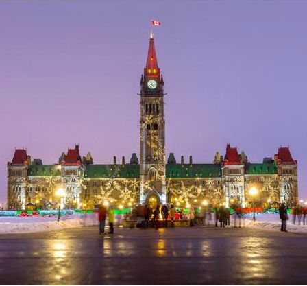 Christmas Lights on Parliament Hill, Ottawa, Ontario, Canada | Flickr