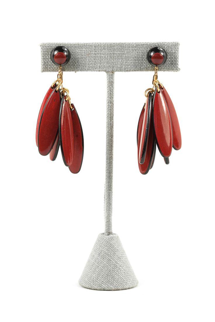 60's__vintage__fringe Clipon Earrings