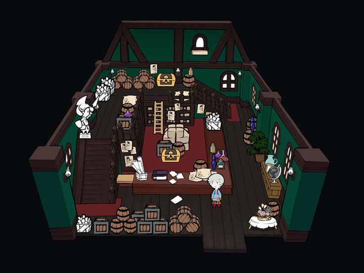 Urupesu Room Interior - Characters & Art - Final Fantasy: The 4 Heroes of Light