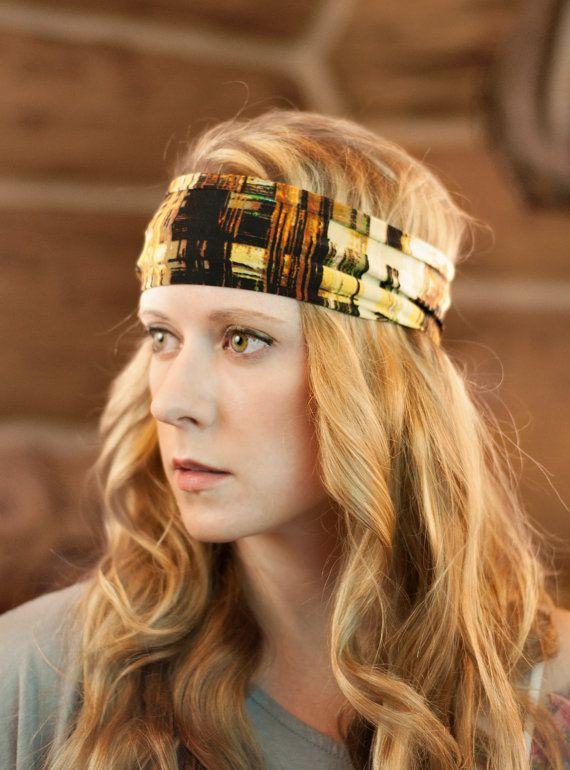 Wide Stretch Headband Yoga Stretchy Headband by ForgottenCotton