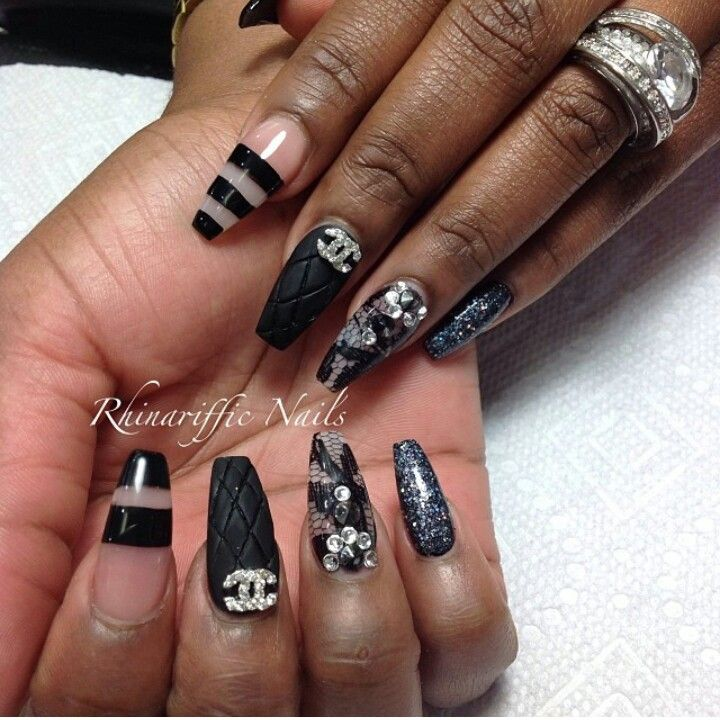 Best 25 chanel nails design ideas on pinterest chanel nail art chanel nail designs prinsesfo Image collections
