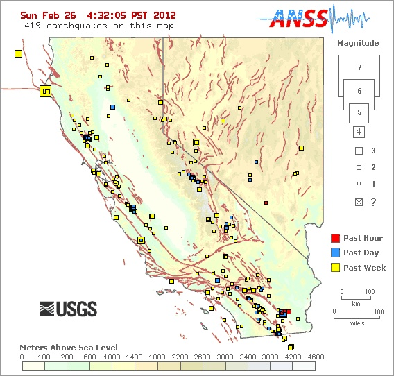 earthquakes today map - photo #41