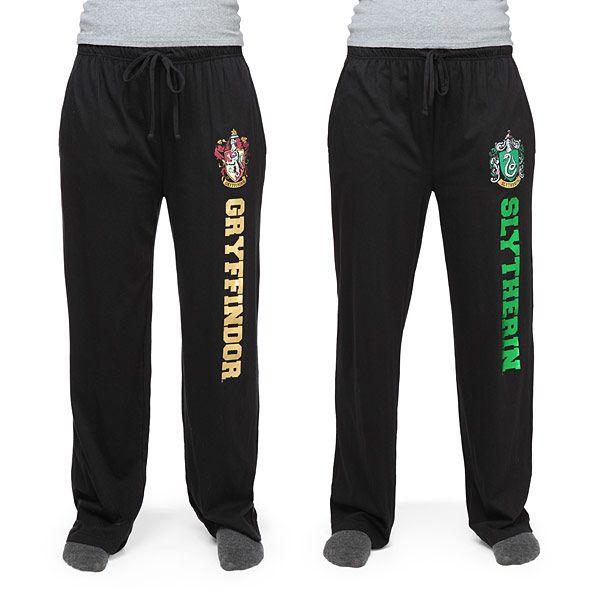 Harry Potter House Unisex Black Lounge Pants - Exclusive