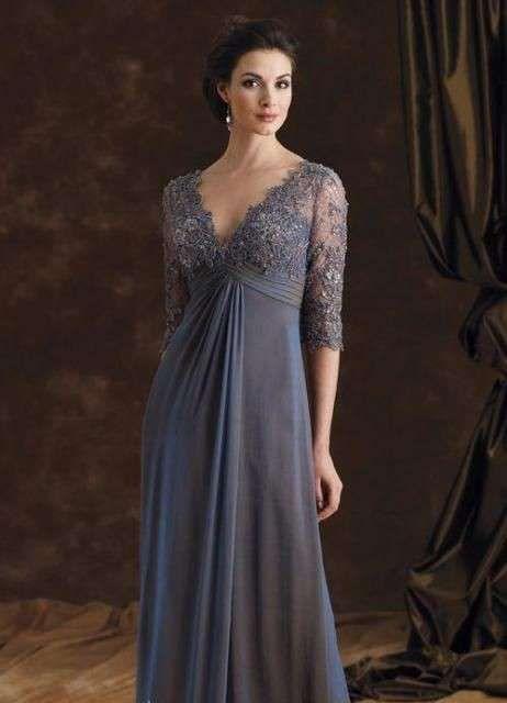Vestidos para madrinas de boda: Fotos de diseños - Vestidos de fiesta, modelo en gris humo para madrinas