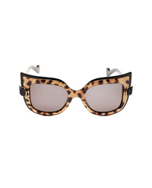 ANNA-KARIN KARLSSON Sunglasses Leaving Cuckoo s Nest animalier variant black on the inside shaded brown lenses acetate material supplied with sunglasses case and box