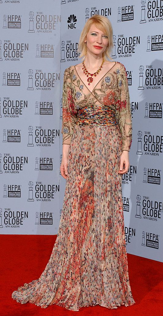 Glam and boho come together, Kate Blanchette Golden Globe 2002: Style Boho, 2014 Fashion, Fashion Costumes, Blanchett 2002, Cate Blanchett Red Carpet, Golden Globes, Blanchett Golden, 2014 Golden, Boho Fashion