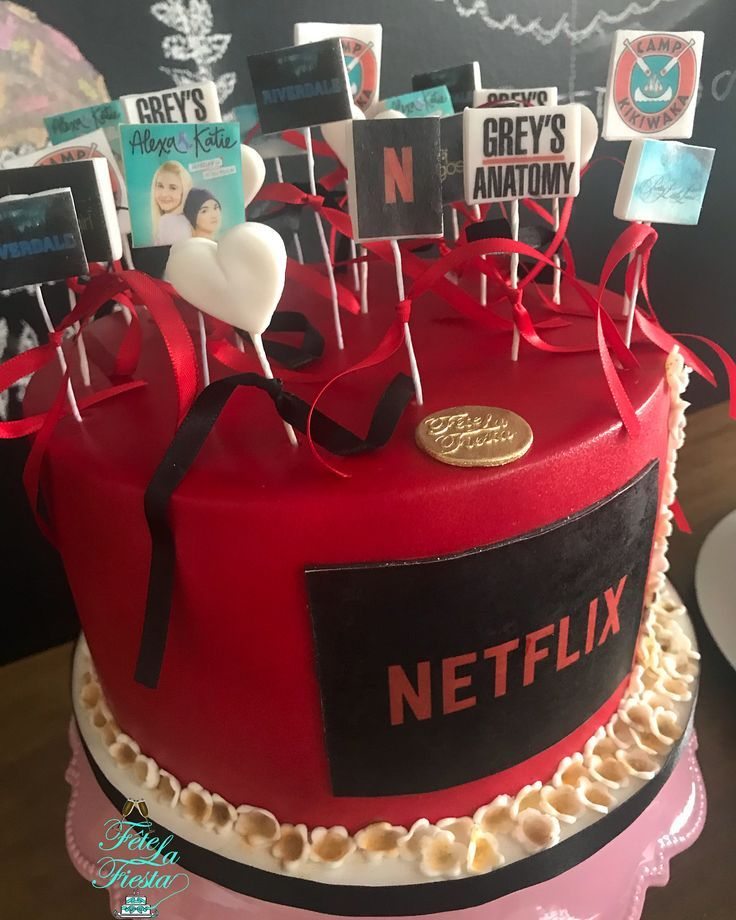 Bolonetflix Netflix Netflixcake Netflixcakes Coranteslullycandy Fetelafiesta Yoo Trend Ideas Cool Birthday Cakes Birthday Cakes For Teens Bithday Cake