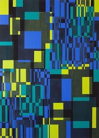"Marianne Grønnow ""Light, Dusk, Darkness"" 180x130 cm Akryl på lærred"