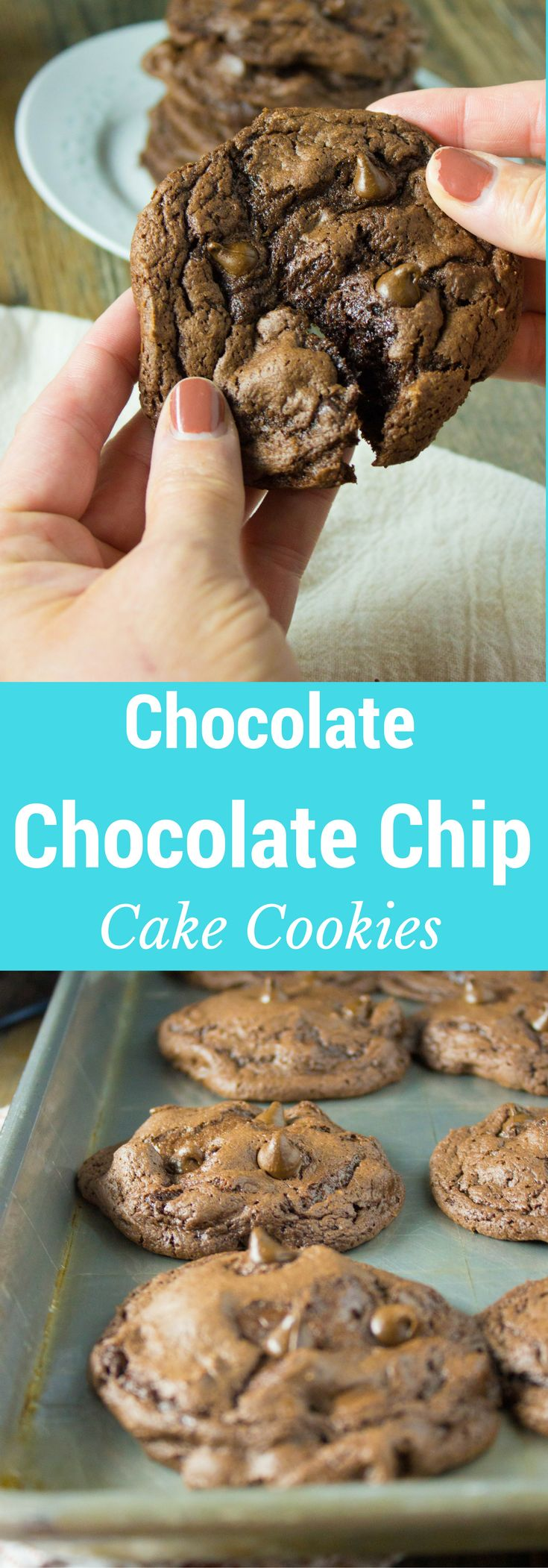 These soft and decadent cookies are #chocolatefordays and are super easy to whip up using a boxed cake mix!