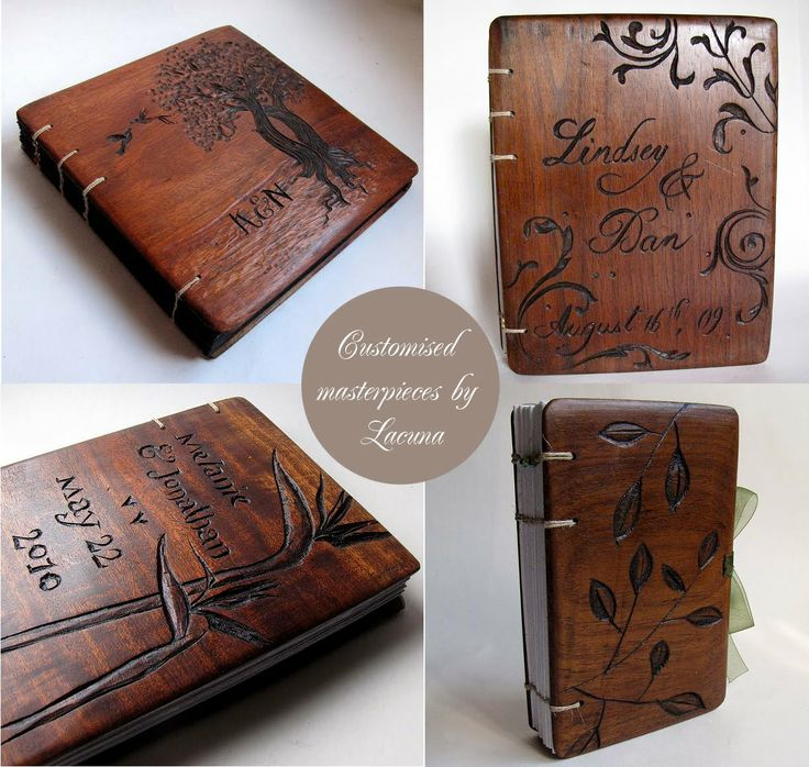 Wooden Book Covers by Lacuna Works