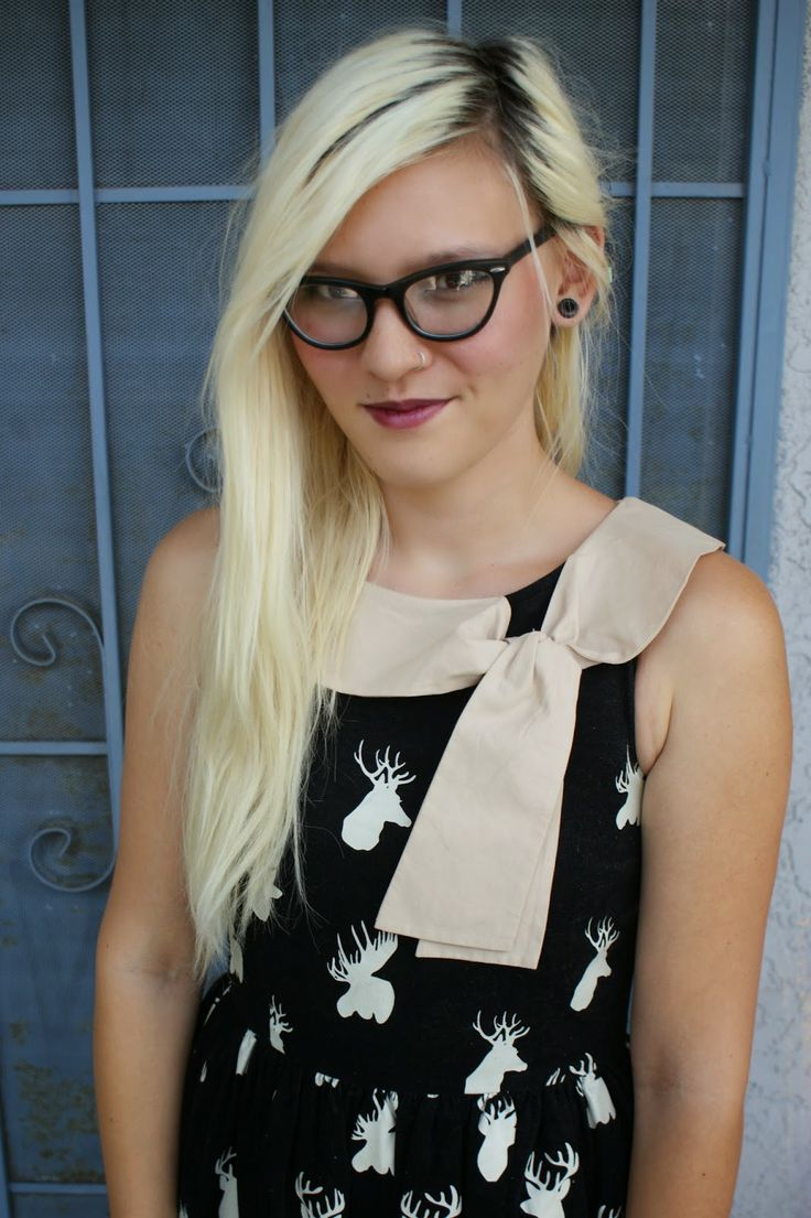 knitted dove dress + zenni optical glasses my style ...