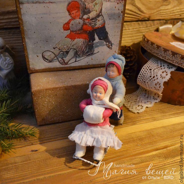 Купить Ватная елочная игрушка ДЕТКИ С ОТКРЫТКИ 4 - Новый Год