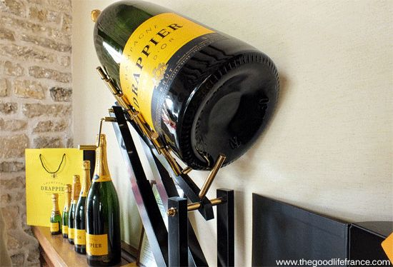 Bottles of Champagne in a row...
