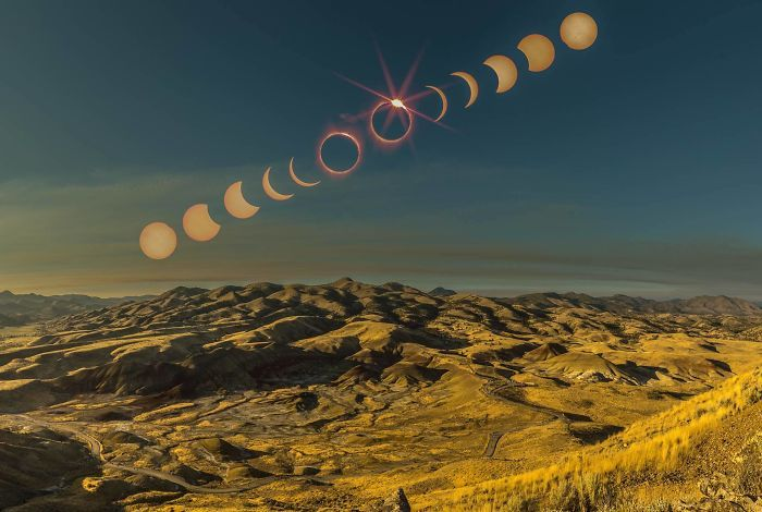 Eclipse From The Painted Hills In Oregon - © Hayden Scott