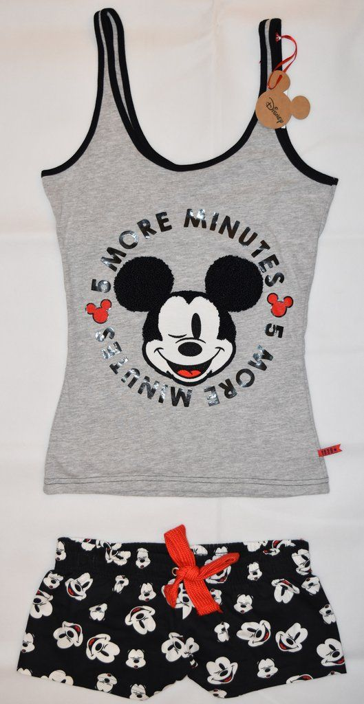 PRIMARK Disney Mickey Mouse Vest & Shorts Set PJ  PYJAMAS UK Sizes 4 - 20 NEW