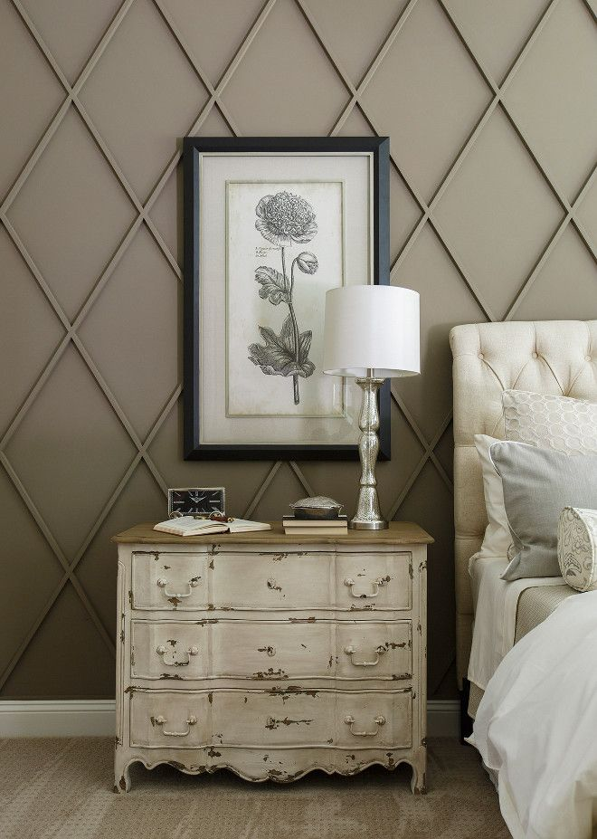 Cottage Home Company Sherwin Williams SW 7039 Virtual Taupe. Diamond Wall Paneling Dimensions: approx. 18″.