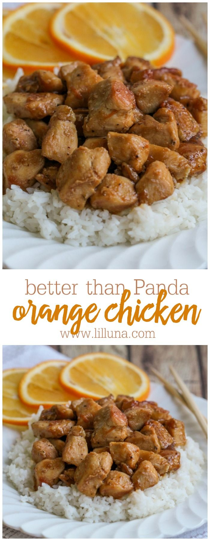 Healthier than Panda Orange Chicken - this Asian dish is a new favorite dinner recipe and easy too!