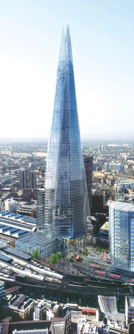 Architecture The Shard. An 87 story skyscraper which comprises residential space, a hotel, offices, restaurants and even a television studio. London, England #architecture, #skyscrapers  #RePin by AT Social Media Marketing - Pinterest Marketing Specialists ATSocialMedia.co.uk