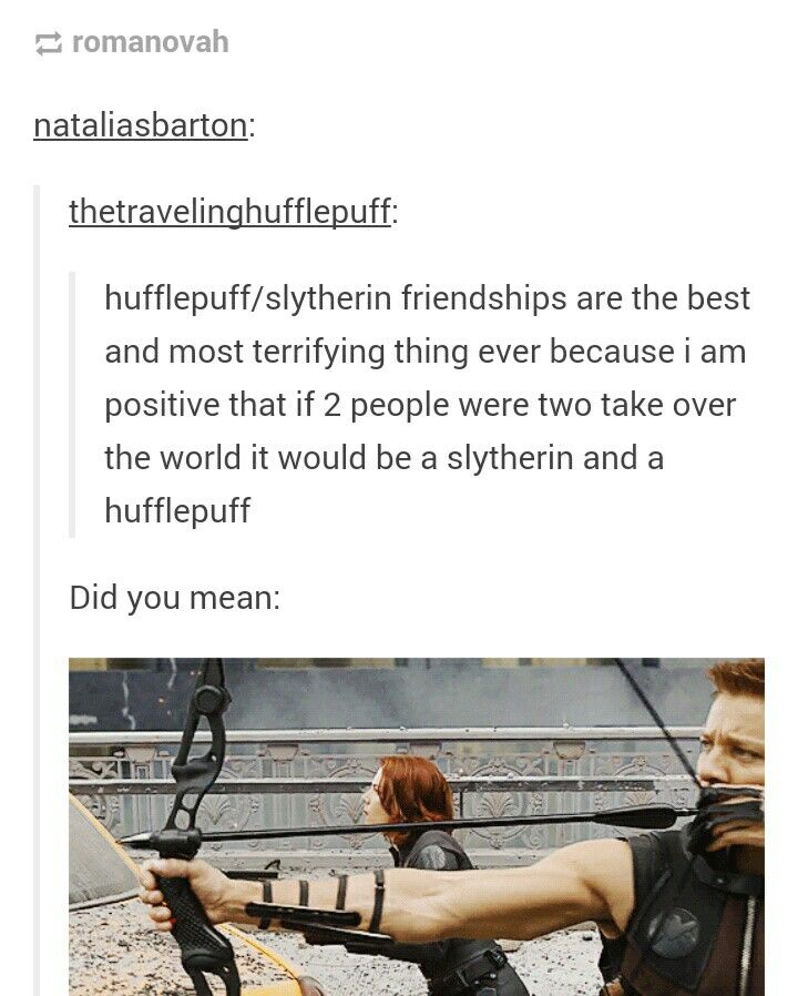 that is hilarious because im a slytherin and my best