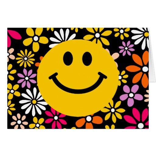 黄色いスマイリーフェイス グリーティングカード